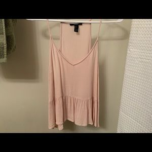 Forever 21 Pink Peplum Tank Top